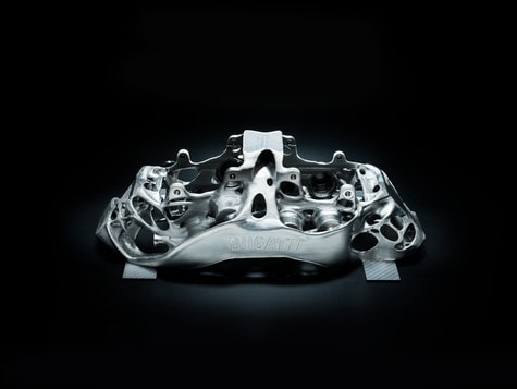 World's First 3D Printed Brake Calliper by Bugatti