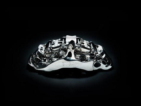 World's First 3D Printed Brake Calliper by Bugatti with Pistons and Pads