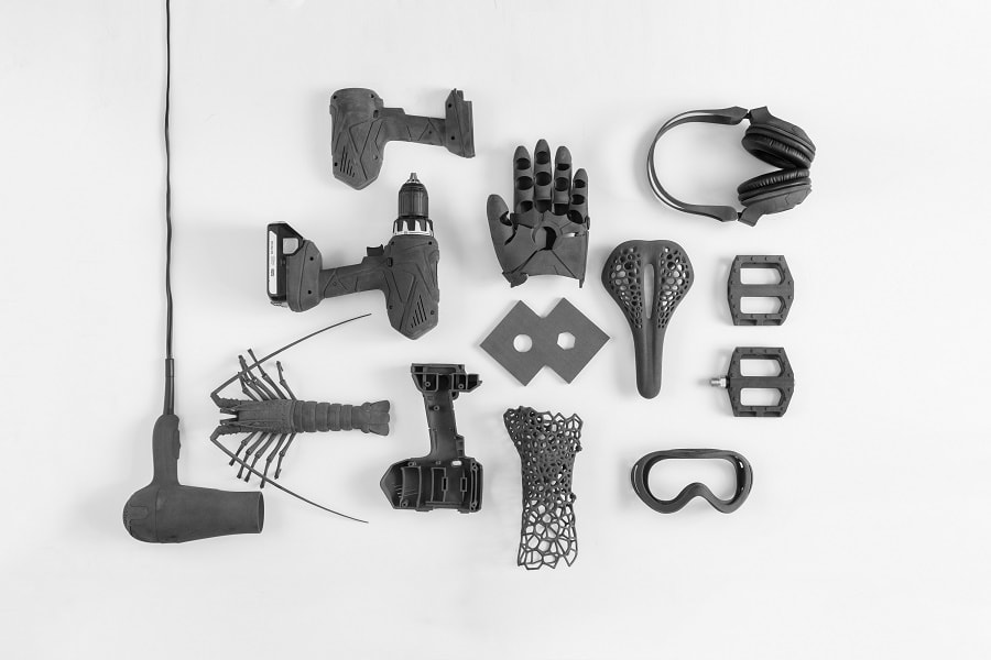 Examples of 3D printed objects printed using SLS Technology