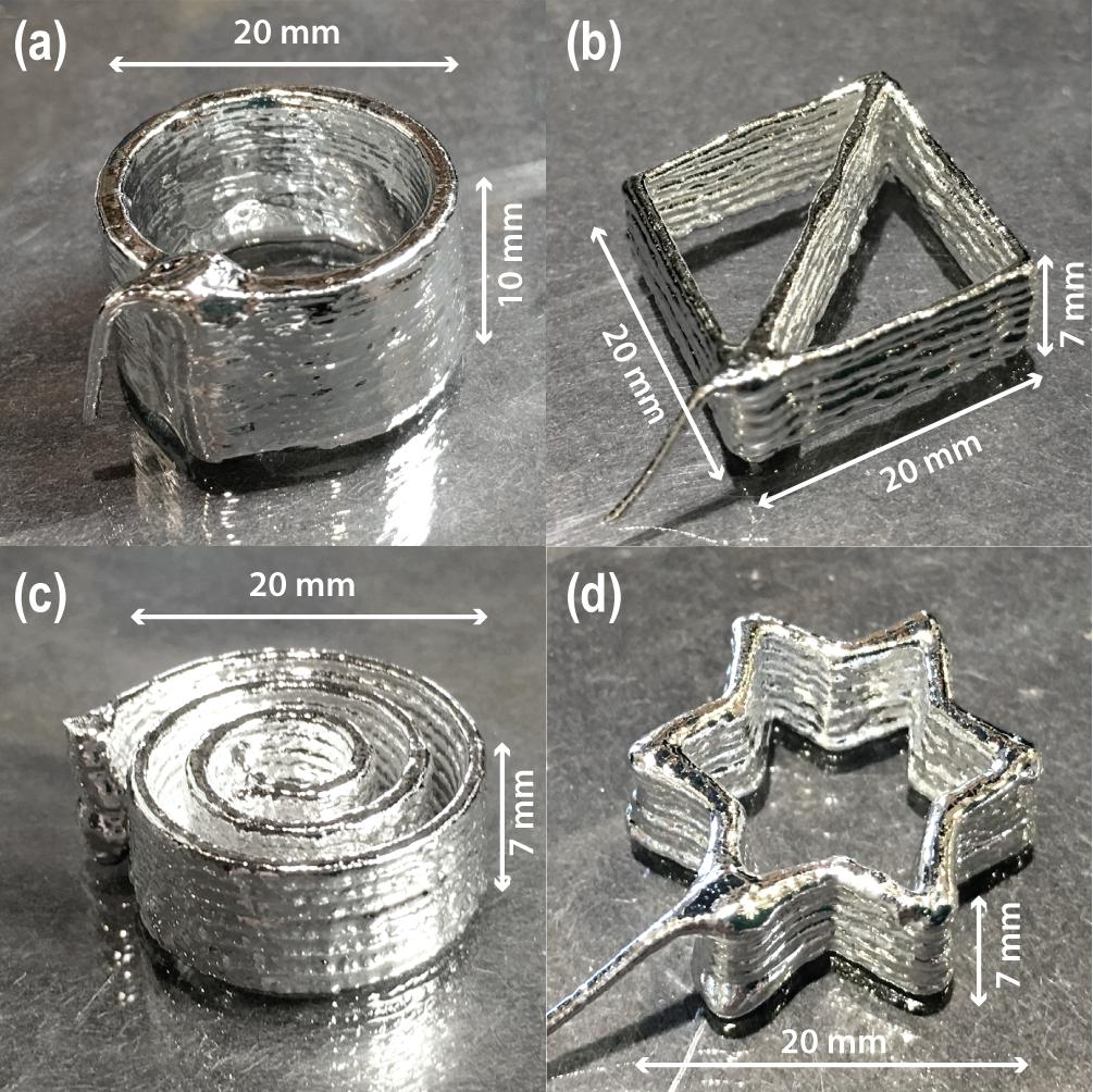 3D Printed parts made from liquid metal, Galinstan