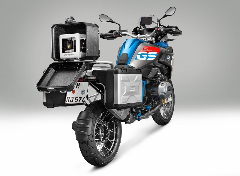 BMW Motorrad iParts 3D Mobile Printer mounted on a BMW R 1200 GS