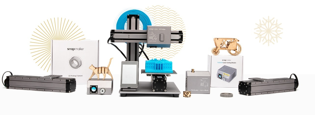 Above: Snapmaker 2.0 Modular 3-in-1 FDM 3D printer/Image Credit: Snapmaker