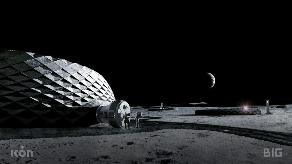 3D Printed Moon Infrastructure